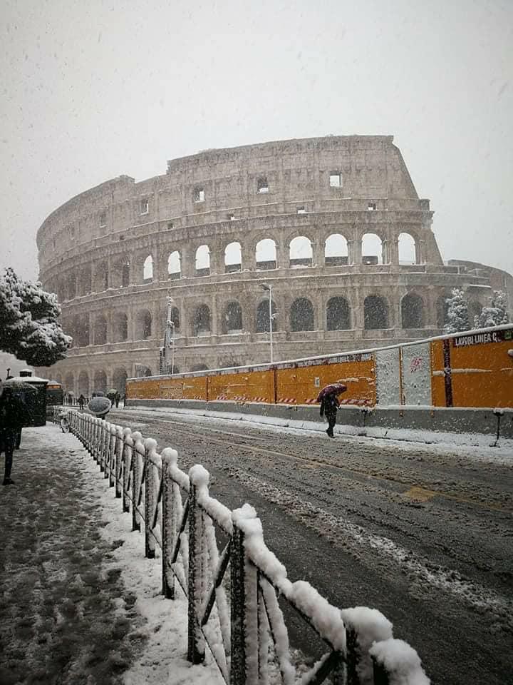 Rome et Sienne sous la neige