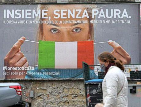 Le coronavirus en Italie au cours des ans